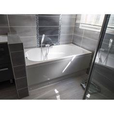 Baignoire rectangulaire L.120x l.70 cm blanc, SENSEA Access  confort - 99€
