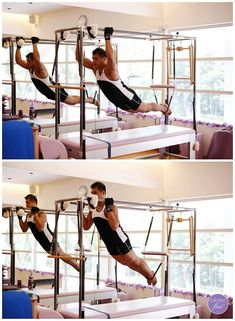 Armand does the classical Pilates Pull Ups on the Cadillac. This movement strengthens the arms and shoulders, as well as works the extension of the spine with support through the powerhouse. www.thepilatesflow.com.sg https://www.facebook.com/ThePilatesFlow