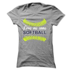 LOVE ME SOME SOFTBALL MOM T-Shirts, Hoodies. BUY IT NOW ==► https://www.sunfrog.com/Sports/LOVE-ME-SOME-SOFTBALL-[SOFTBALL-MOM]-Ladies.html?id=41382