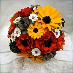 Autumn Inspired Paper Bouquet Customize by DragonflyExpression, $125.00