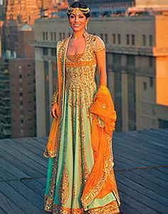 Aqua Belfort, Pakistani Long Gowns, Pakistani Designer Long Flared Dresses Online 2012 Collection. Interesting fit