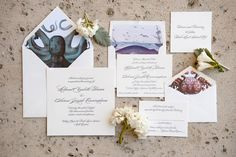 Invitation Designer: The Paper Crane - Holland and Aaron's Wedding on Bald Head Island by Anne Liles Photography - via Grey likes weddings Vintage Nautical Wedding, Nautical Wedding Invitations, Wedding Invitation Suite, Invitation Design, Wedding Blog, Wedding Styles, Bald Head Island, Stationary Design, Bald Heads