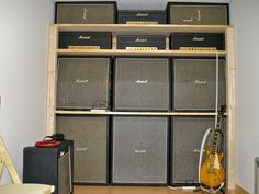 Vintage Marshall Wall  and a '59 Les Paul.