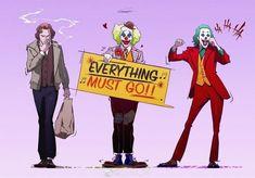 Who's watching it tonight? Le Joker Batman, Batman Art, Joker And Harley Quinn, Gotham Batman, Batman Robin, Joaquin Phoenix, Dc Universe, Joker Tumblr, Comic Collage