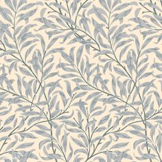 Vintage Illustration of Willow Bough Creative Illustration, Free Illustrations, Flower Pattern Design, Floral Patterns, Vintage Patterns, William Morris Patterns, Periwinkle Flowers, Solomons Seal, Free Hand Drawing
