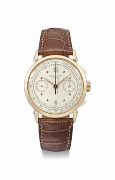 Patek Philippe. A fine and rare 18K pink gold chronograph wristwatch, manufactured in 1952 #ChristiesWatches