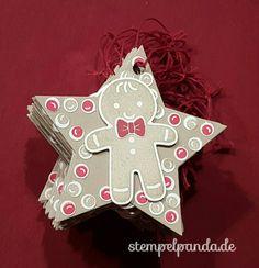 Stampin up, SU, Stempelpanda, ausgestochen weihnachtlich, lebkuchenmann