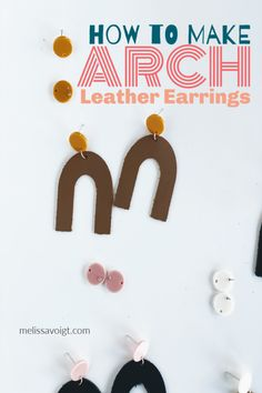 Cut real leather on your Cricut without ruining your MAT! This Cricut project is great for beginners. An easy tutorial for using leather and creating easy Cricut projects. Easy Diy Crafts, Diy Craft Projects, Diy Crafts To Sell, Sewing Projects, Craft Ideas, Chocolate Granola, How To Make Earrings, Diy Earrings, Cricut Tutorials