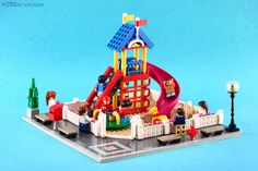 https://flic.kr/p/A3uDsL | Playground | Modular building is the first LEGO set and theme that really hooked me up back playing and buying LEGO again. I have a small city layout to display my modular collection at my house, but I never made a modular building build since I think the official set itself are hard to beat and I don't have the skill enough to do that. Made this for Filling in The Block by MBK, and it's a great chance to try to make my own build to fill my city since I always…