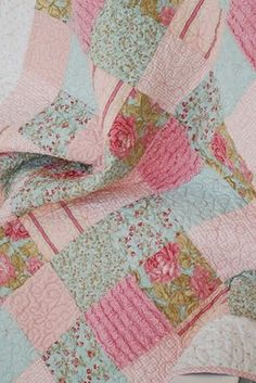 all things simple: happily home. Love the chenille--it gives character. Quilting Projects, Quilting Designs, Sewing Projects, Quilting Ideas, Sewing Ideas, Baby Girl Quilts, Girls Quilts, Children's Quilts, Quilt Baby