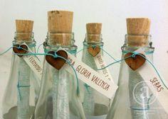 Invitación en botella con corazón de madera. #invitarte www.facebook.com/invitartemedellin instagram@invitarte