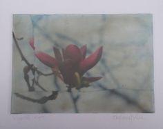 Encaustic montage of Magnolia Flower image by Stephanie J Milne http://www.stephaniejmilne.com