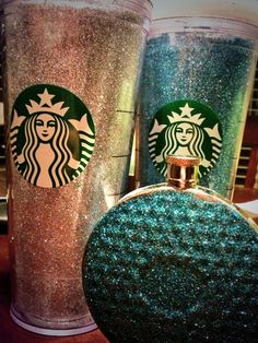 Glitter reusable cold cup and flask #glitter #diy