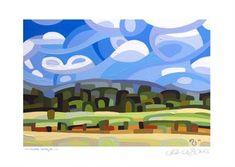 "Daily Paintworks - ""Landscape Study #39"" - Original Fine Art for Sale - © Mandy Budan"