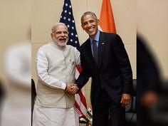 Narendra Modi and Barack Obama during a bilateral meeting at 28th and 29th ASEAN…