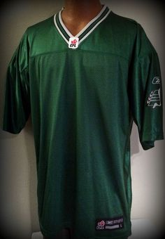 SASATCHEWAN ROUGHRIDERS ADULT LARGE REEBOK REPLICA FOOTBALL JERSEY NEW WITH  TAGS  Reebok  RoughRiders Football 797adc443