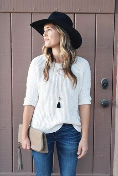 slouchy white sweate