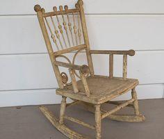 Wonderful Antique Child's Rocking Chair by FleurStreetVintage, $119.00