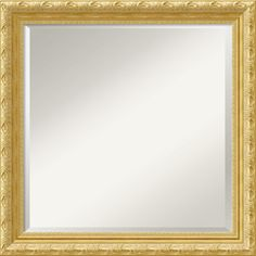 Amanti Art - Versailles Square Wall Mirror - Guaranteed to brighten any room in your house, this square mirror features a gold frame highlig...
