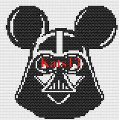 Dark Vador Mickey Disney cross stitch