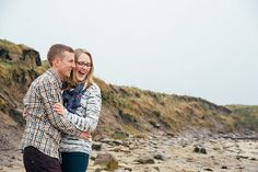 James & Becky's Lighthouse Engagement at Whitley Bay | Mustard Yellow Photography