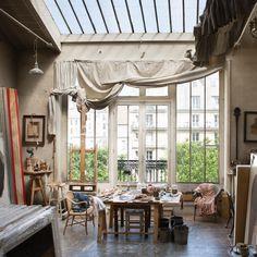 The studio of Ruben Alterio in Montmartre. Thank you @departuresmag #RichardStory @leagolis @rstplr. Departures, March '17