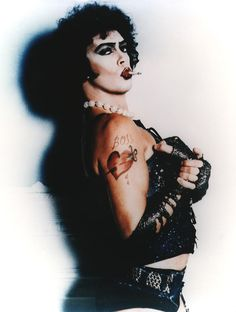 Tim Curry as Frank-N-Furter makes me smile :D  photographed by Mick Rock