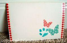 Handmade envelope created for my sister's card