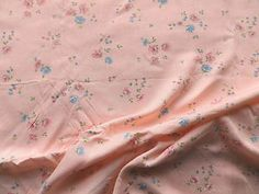 Vintage 1940's Pink Rayon Floral Dress Making Fabric for Underwear or Blouses | eBay