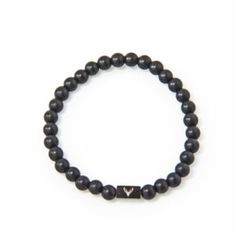 Accessories for the modern man who pays attention to details. Men's beaded bracelet with black matte onyx beads.