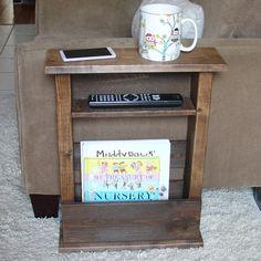 Sofá silla brazo resto de mesa con estante y bolsillo por KeoDecor
