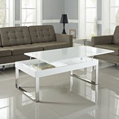 White Gloss Rectangular Coffee Table - Verona Extendable High Gloss Coffee Table In White. High Gloss White Coffee Table with Rotating top Tiffany Range.resemblance Of Amazing Lucite Coffee Table Ikea. Contemporary Coffee Table Decor, Furniture Design Living Room, Storage Ottoman Coffee Table, Modern Furniture Sofas, White Gloss Coffee Table, Desk In Living Room, Modern Furniture Living Room, Modern Coffee Tables, Modern Furniture Design Living Rooms
