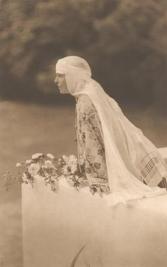 gorgeous Queen Marie of Romania dressed in traditional costume