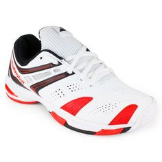 d662dd58683 BABOLAT JUNIORS V PRO 2 TENNIS SHOES WHITE RED  54.95