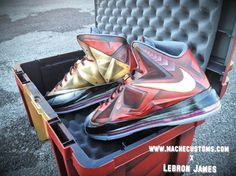 Miami Heat Player, Lebron James received a one of kind pair of his signature sneakers, the Nike Lebron X, in a dope Iron Man colorway in anticipation of the newest film from Marvel, Iron Man 3. Miami Heat Player, Lebron James received a one of kind pair of his signature sneakers, the Nike Lebron X, in a dope Iron Man colorway in anticipation of the...