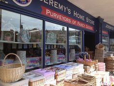 The outside of Jeremy's Home Store has as much stock as the inside. We stock the largest range of baskets in the country.