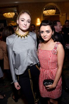 Sophie Turner and Maisie Williams attend The BAFTA Tea Party
