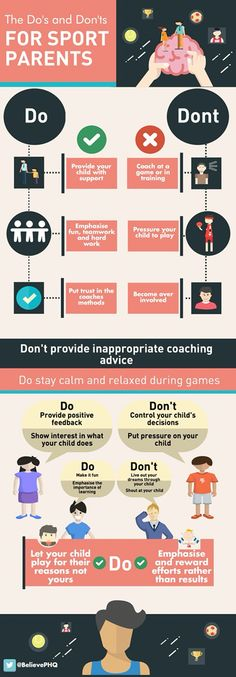 Do's and fonts for sports parents.