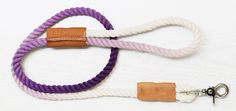 We simply swooned over this DIY dip-dyed leash, so we asked the very cool Capree Kimball, blogger/crafter extraordinaire of dog-milk.com and curbly.com fame, to show us how it's done. Turns out it's not as tricky as it looks—a length of rope, some fabric dye and you'll be the envy of the dog park! Take it away, Capree...