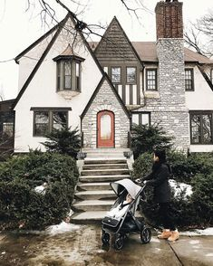 I never saw a Tudor house in person until I moved to Minneapolis. They have I never saw a Tudor house in person until I moved to Minneapolis. They have Style At Home, Tutor Style Homes, Future House, Barbie Dream House, House Goals, Cozy House, Home Fashion, My Dream Home, Dream Homes