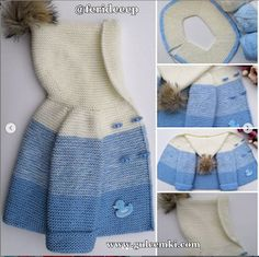 Pink Baby Cardigan With Hook Knitting Knitted - Diy Crafts - maallure Baby Knitting Patterns, Baby Cardigan Knitting Pattern Free, Knitted Baby Cardigan, Blue Cardigan, Kids Fashion Blog, Cheap Cardigans, Baby Coat, Baby Sweaters, Clothes