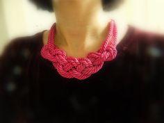 Hot Pink Sailor Knot necklace. #SarahEdmonds #Banquet