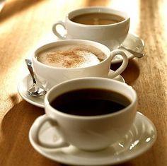 Tipos de bebidas con cafe
