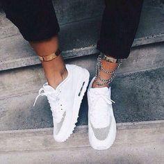 White Nike Air Max 90's