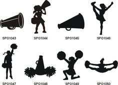 Free Cheer Sillohette Clip Art Black And White Cheerleader Clip