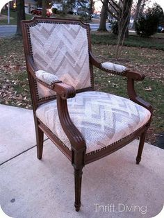 BEFORE & AFTER: Vintage Chair Makeover