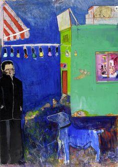 Edouardos Sakayan (Greek, born 1957) Red lights 170 x 120.5 cm