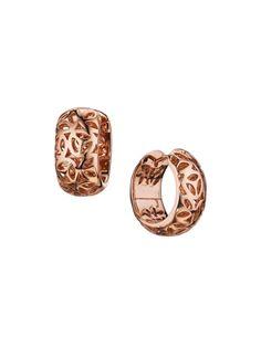 Sahara Rose Gold Huggie Hoop Earrings