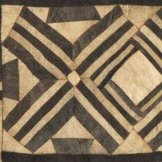 Woman's Ceremonial Skirt (detail) D. Congo, Bushong people Early century Pounded and dyed inner bark (Ficus); piecing Size: 104 x 18 266 x 47 cm Textile Fiber Art, Textile Artists, African Masks, African Art, African Prints, Textile Patterns, Quilt Patterns, Floral Patterns, Congo