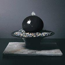 Ceramic Gentle Presence Small Tabletop Sphere Fountain